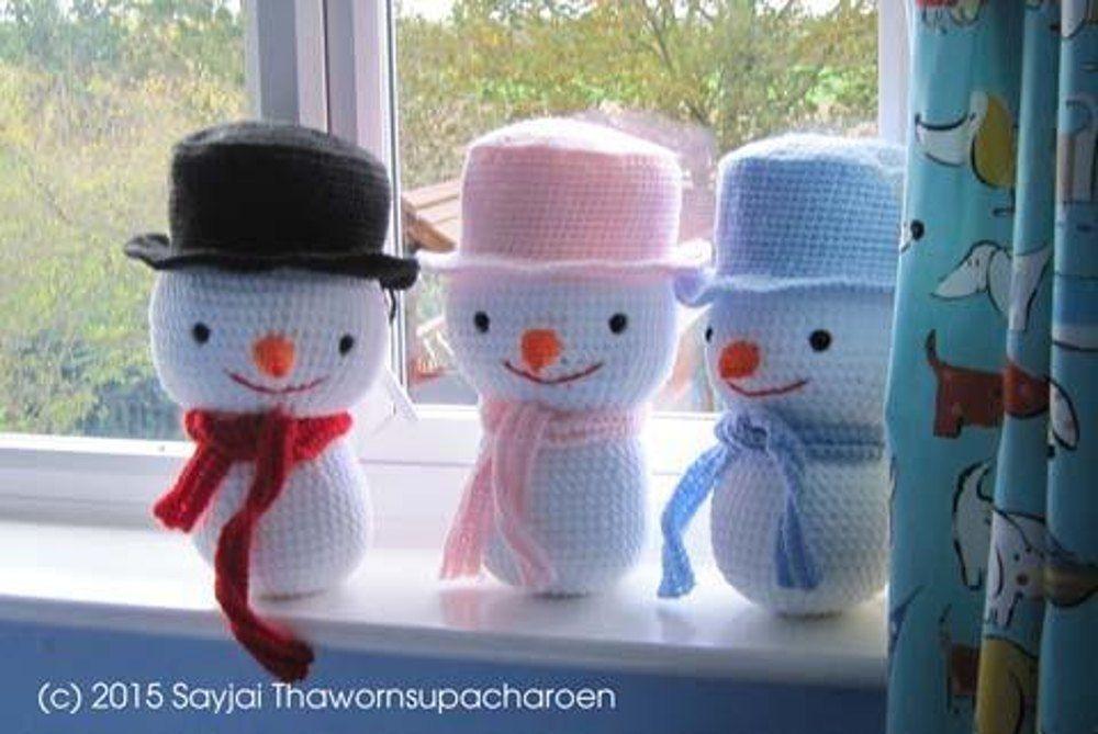 Large Snowman Amigurumi Crochet Pattern Crochet Pattern By Sayjai Thawornsupacharoen Knitting Patterns Toys Crochet Toys Patterns Crochet Amigurumi