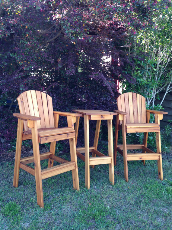 Great Handmade Wooden Directors Chair, Perfect On Your Deck Or Back Patio  On Etsy, $253.00