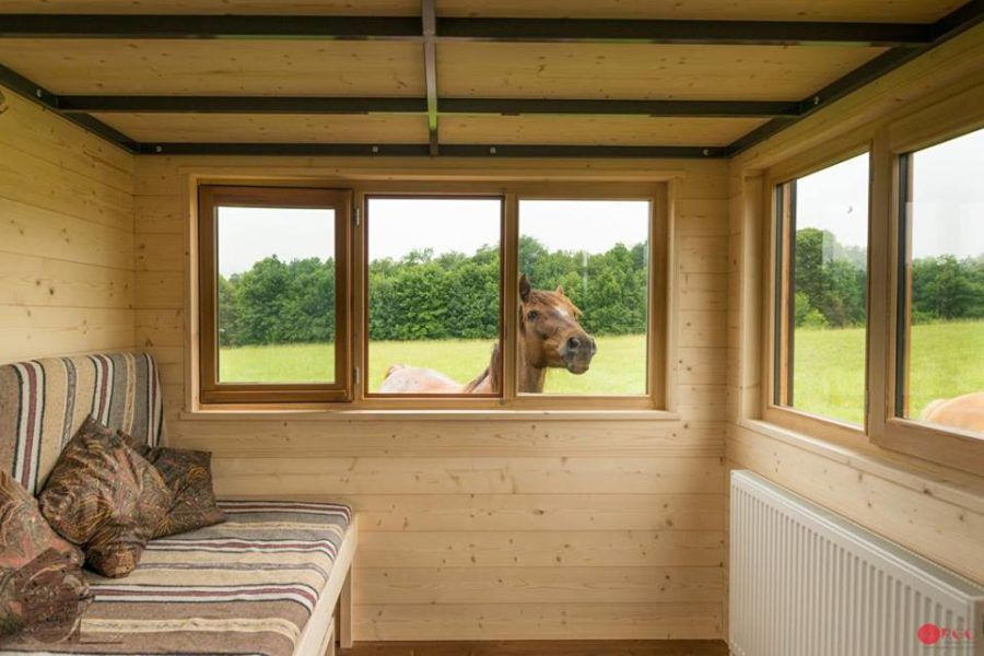 Convertible Roof Tiny House A Thow W A Retractable Ceiling Pienet Kodit Kodit