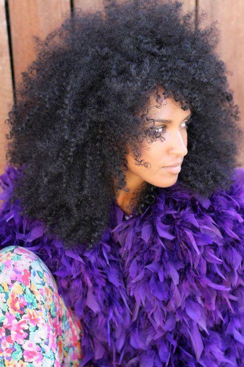 Fluffy fantastic natural hair.