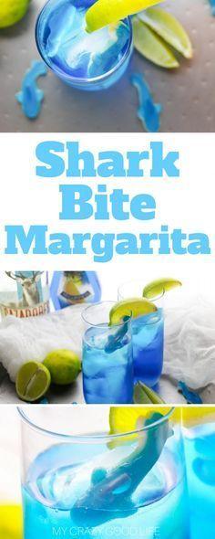 Baby Shark Margarita Challenge | Shark Bite Margarita - My Crazy Good Life