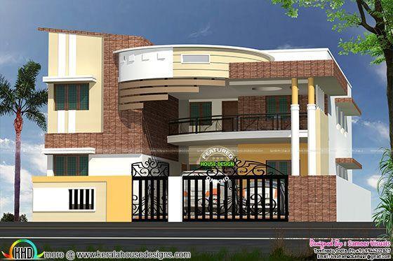 Modern contemporary south indian home design villas - Modern indian home design ...