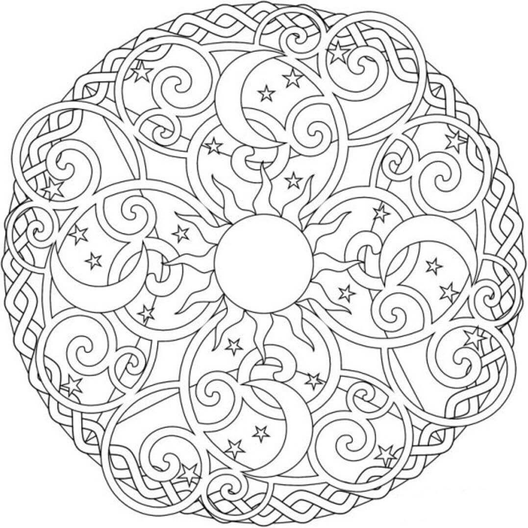 Desen Boyama Sayfaları Etkinlikler Için Geometrik Boyamalar