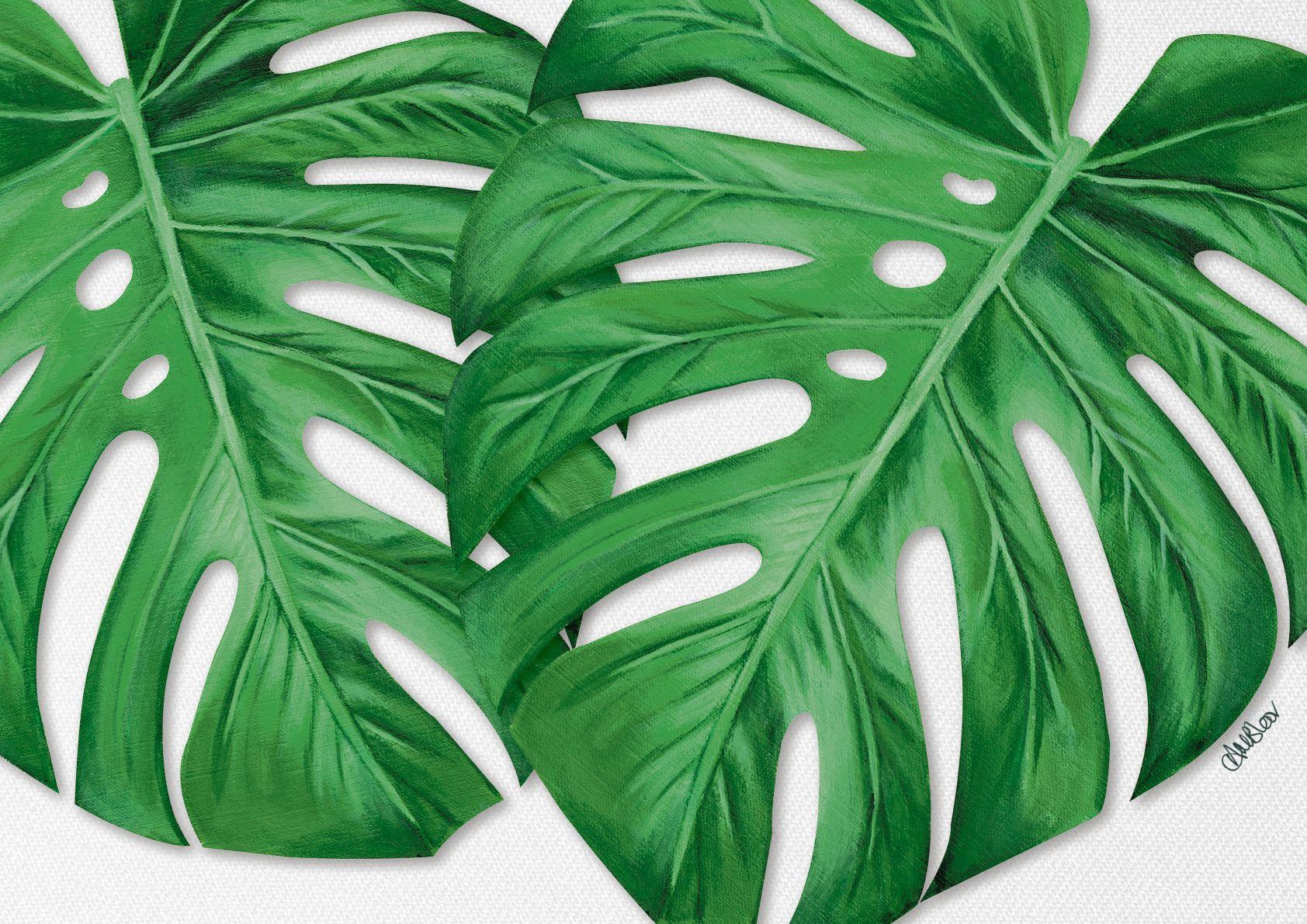 9ed7a984c47b Monstera Leaf Painting. Acrylic on Canvas
