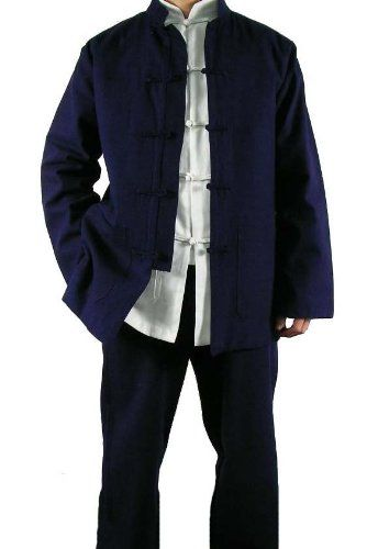 8235dd64f9 Amazon.com  Fine Linen Blue Kung Fu Martial Arts Tai Chi Uniform Suit XS-XL  or Tailor Custom Made  Clothing