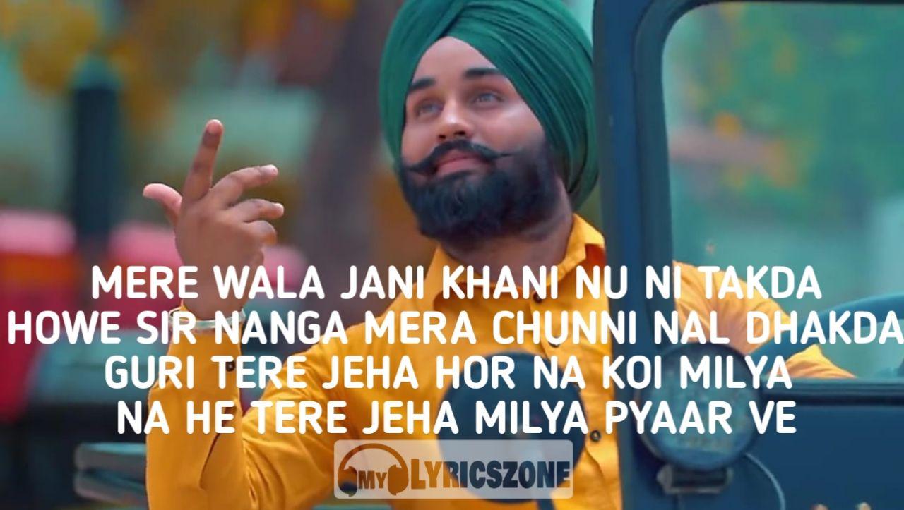 Mere Wala Sardar Lyrics In Hindi By Jugraj Sandhu In 2020 Me Too Lyrics Old Song Lyrics Lyrics