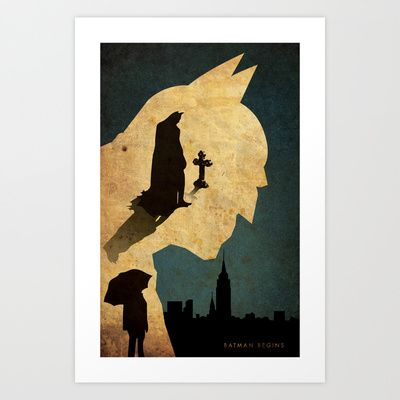 BAT MAN  Art Print by Edmond Lim - $18.00