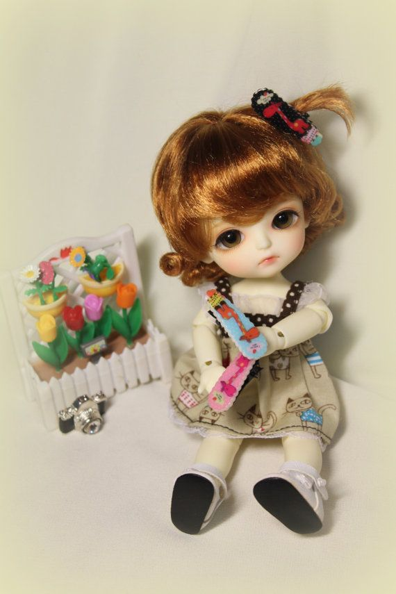 cutie hair clip for lati yellow and other bjd's by DreamWigs