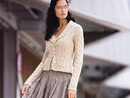 modele tricot col chale