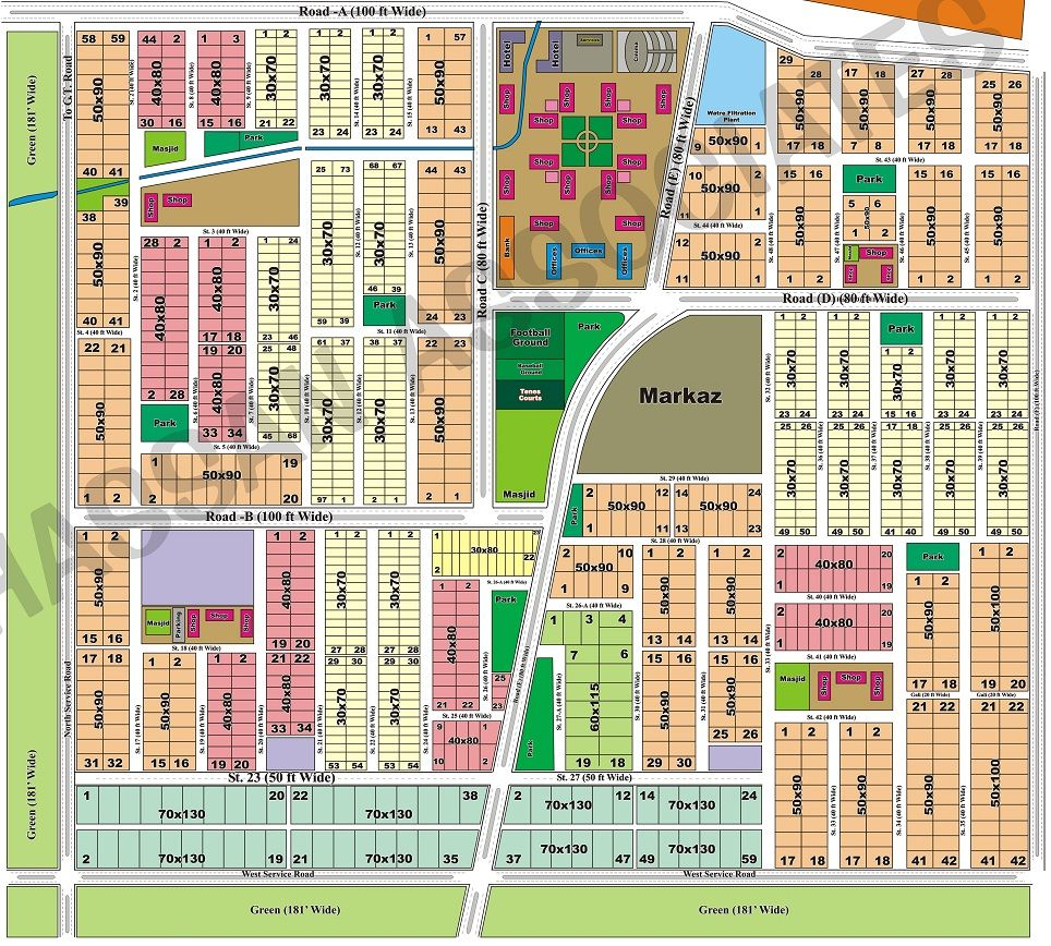 Margalla View Housing Society D17 Islamabad Manahil Estate Location Map Bahria Enclave Plots For Sale