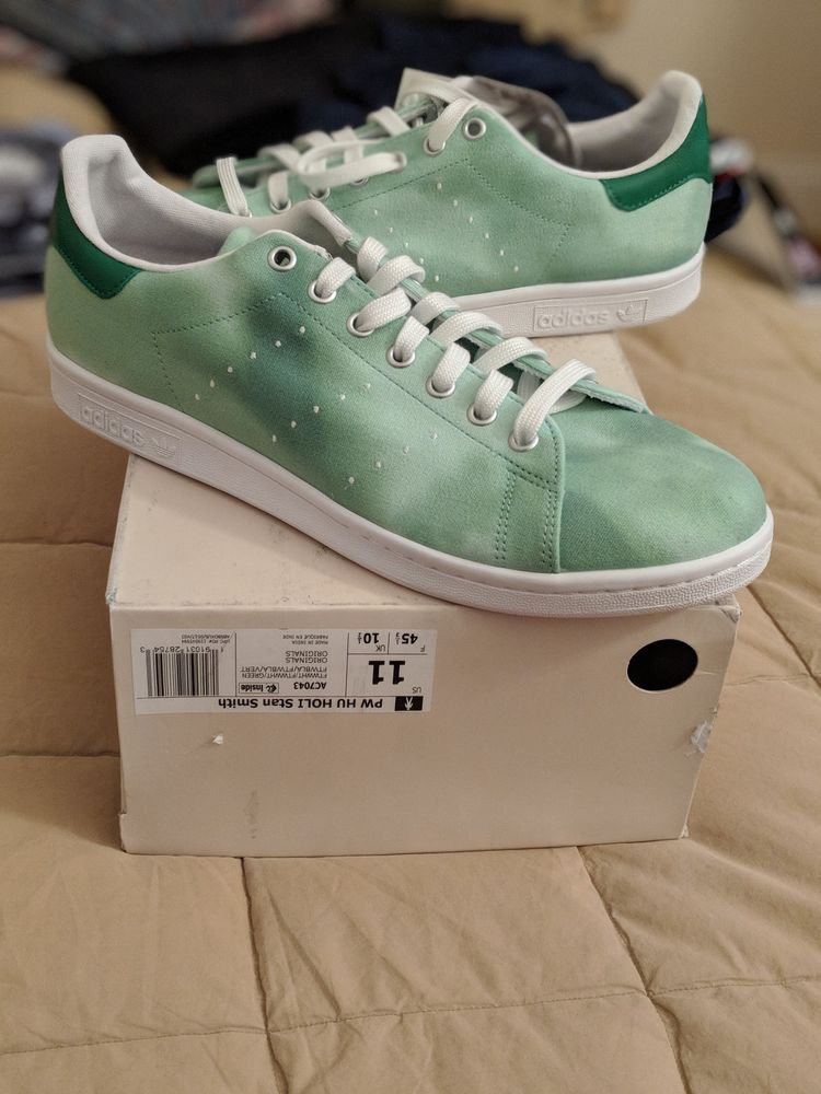d52651745 ADIDAS PW HU HOLI PHARRELL WILLIAMS STAN SMITH GREEN CLOUD SHOES size 11   fashion  clothing  shoes  accessories  mensshoes  athleticshoes (ebay link)