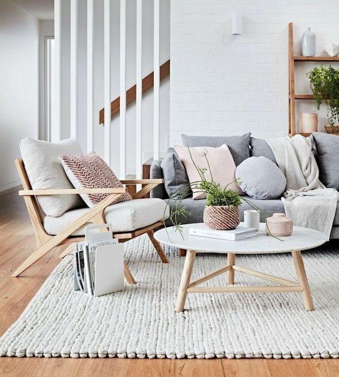 1001 photos et conseils d 39 am nagement d 39 un salon scandinave design d int rieur home decor - Salon nordique ...