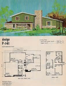 Mid Century Mod Split Level Home Bing Images Mid Century Modern House Plans Vintage House Plans Sims House Plans