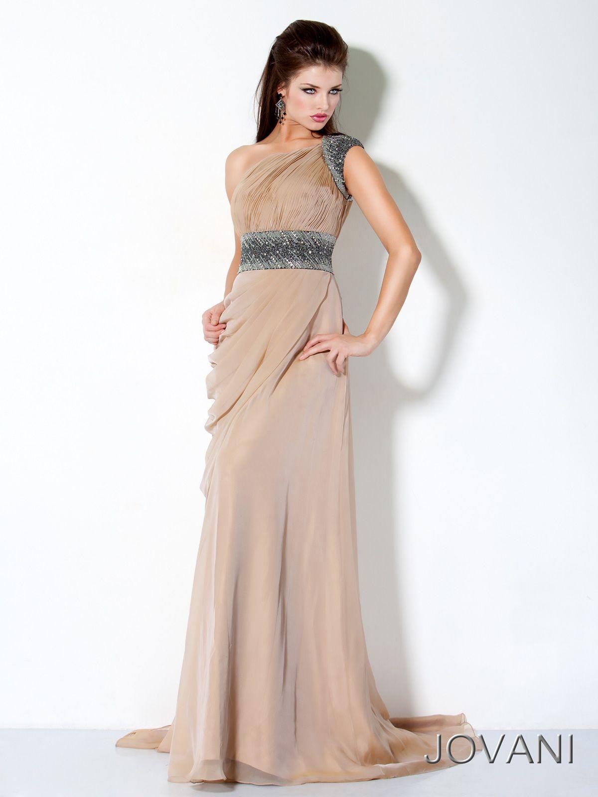 Roman Goddess silk prom evening dress Jovani 3012. Be the ...