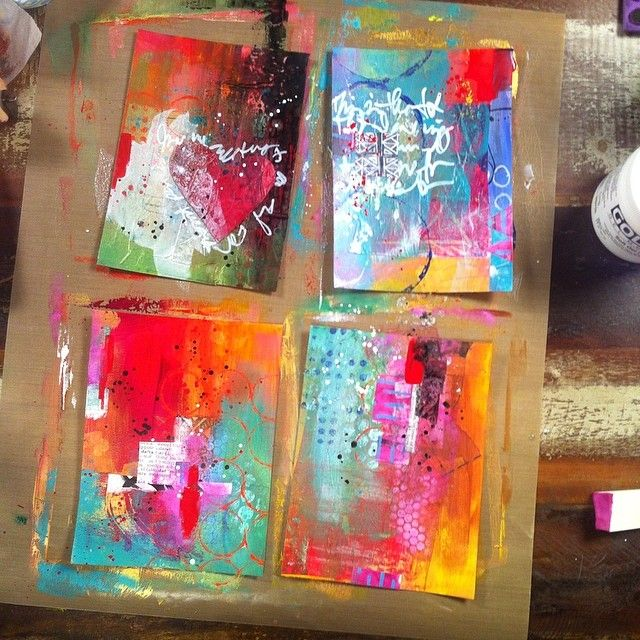 Balzer Designs; Do a series of work in a small format if you are intimidated by committing to a larger canvas.