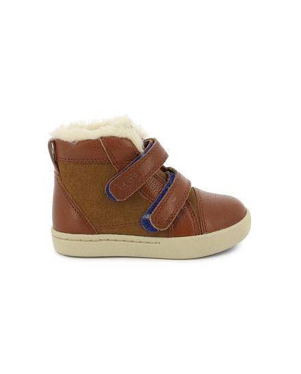 f90d086b85214 Zapatillas de piel de niña UGG Australia abotinadas color marrón ...