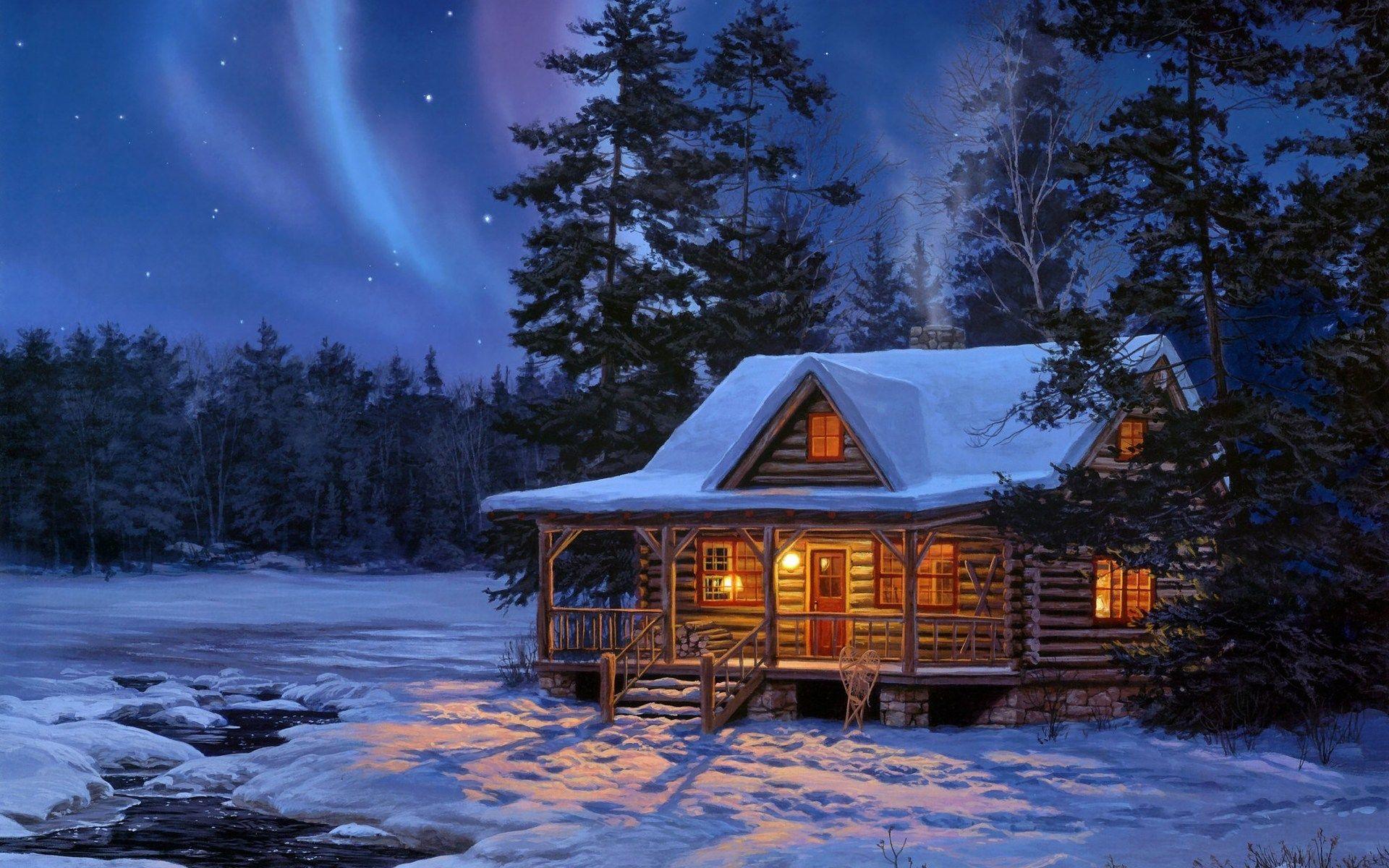 фото новогодней избушки вот ллойд брайт