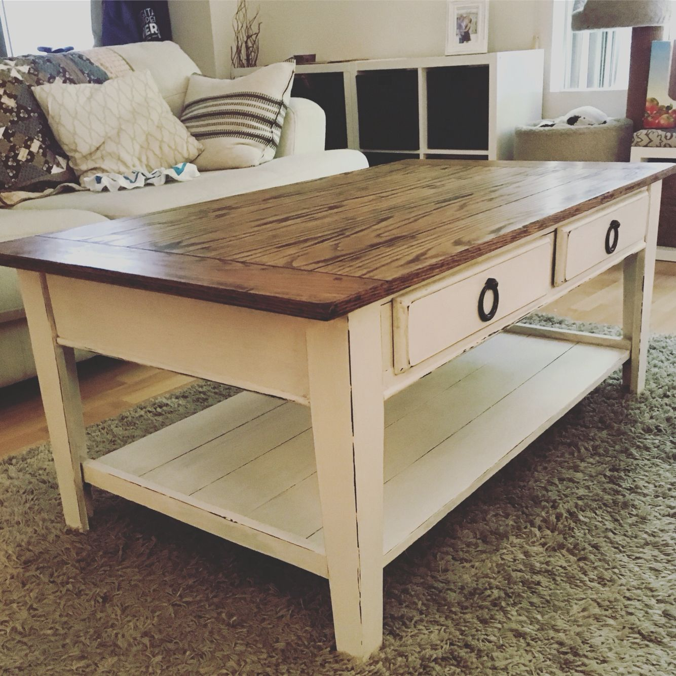 Upcycle Your Dark Wood Coffee Table Into A Light Airy Antique Dark Wood Coffee Table Coffee Table Wood Coffee Table [ 1334 x 1334 Pixel ]
