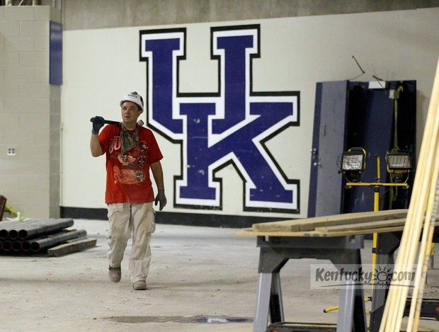 Photo Gallery: Rupp Arena locker room renovation continues