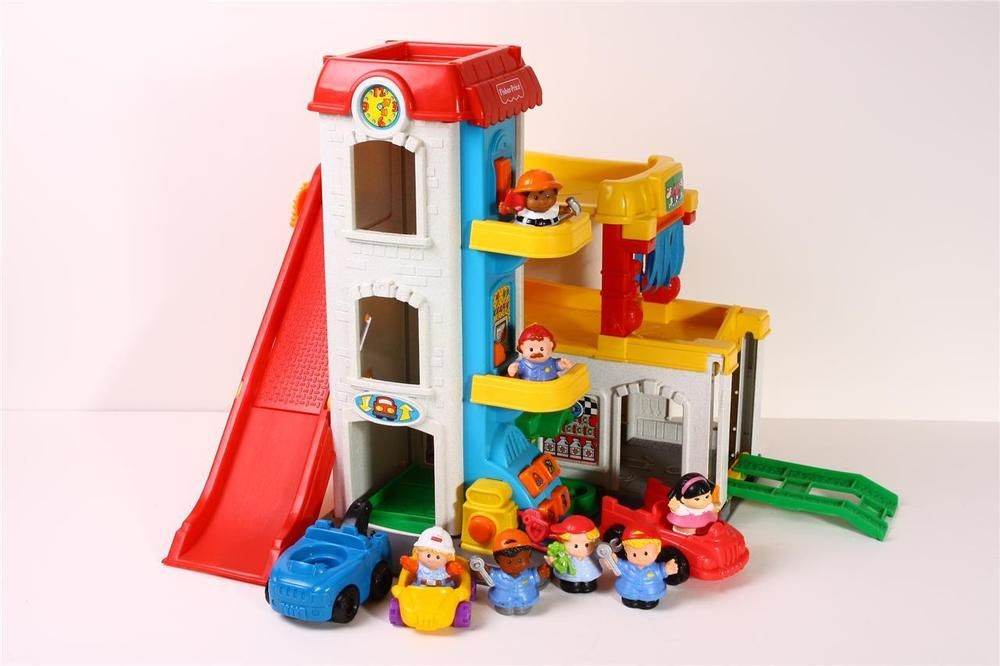 Fisher Price Little People Garage Vintage Fun Sounds Car Wash Elevator Extras Preschool Toys Car Wash Little People