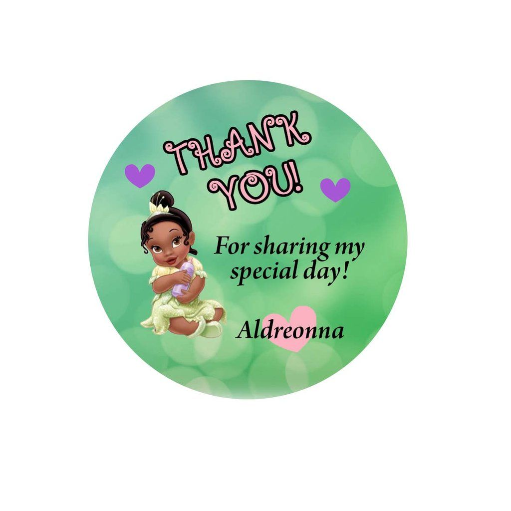 Princess Tiana Baby Shower Gift Tags | Princess tiana, Tiana and ...