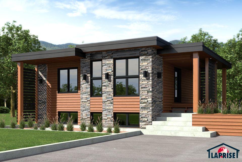 Laprise kit homes designer zen contemporary lap0504 maison laprise prefabricated homes for Maison laprise