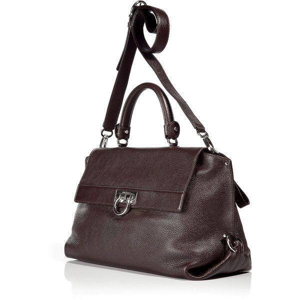 SALVATORE FERRAGAMO The Sophia Dark Brown Satchel Bag ($1,116 ...