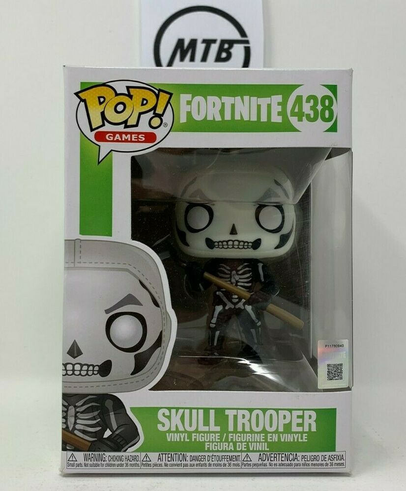 FUNKO POP GAMES FORTNITE SKULL TROOPER 438 red nosed raider rex code