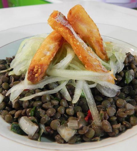 Cuisine antillaise salade de lentilles morue frite la - Cuisine antillaise guadeloupe ...