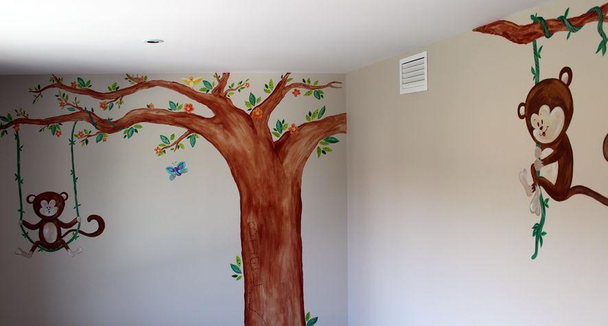 Murales infantiles pintados a mano barcelona la que - Murales pintados a mano ...