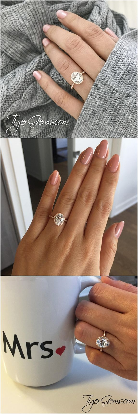 ctw oval halo ring vintage style engagement ring man made