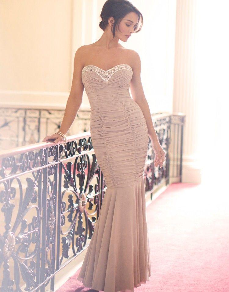 Lipsy V I P Sweetheart Embellished Ruched Maxi Dress - Lipsy ...