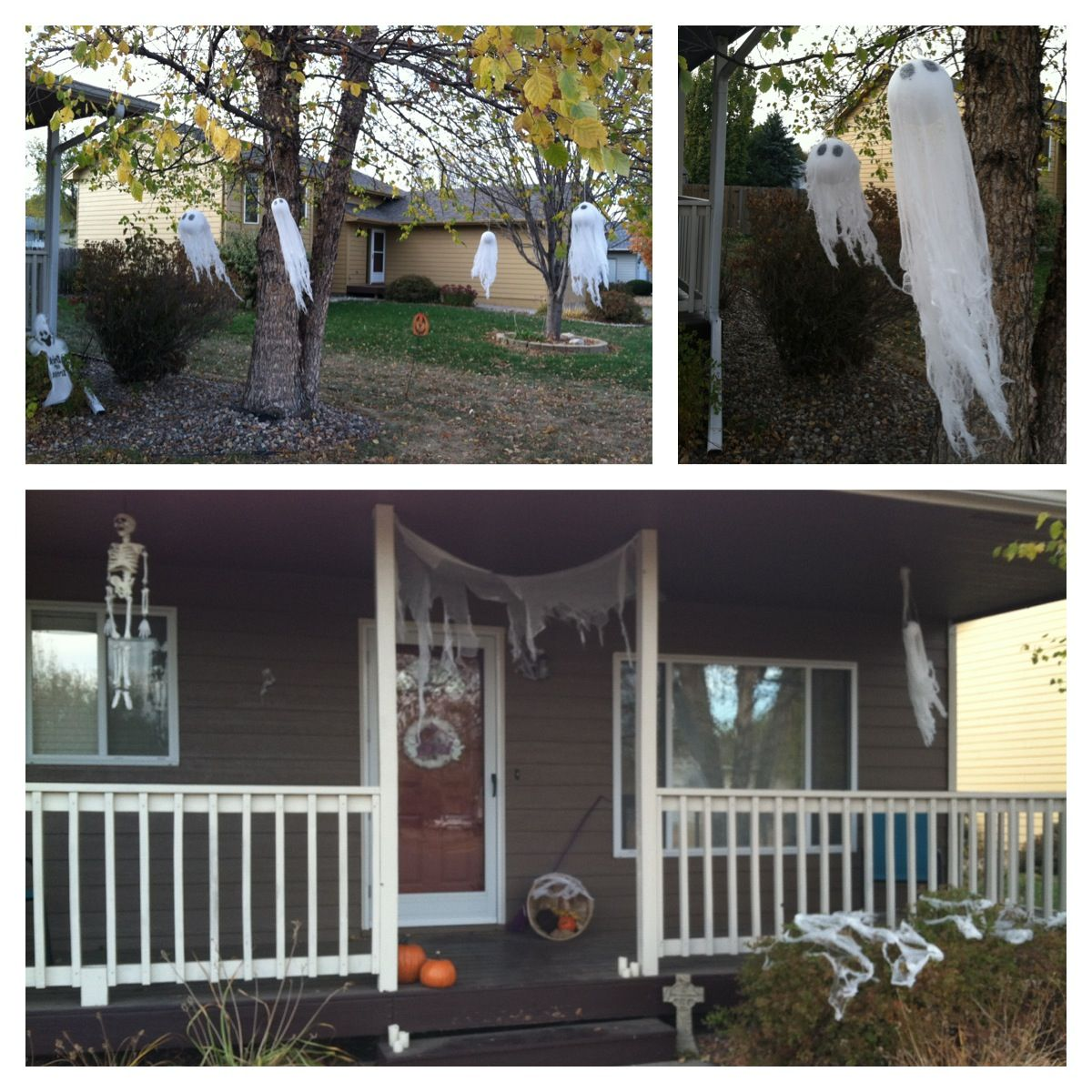 Halloween decor outside my house! Turning our House into a Home