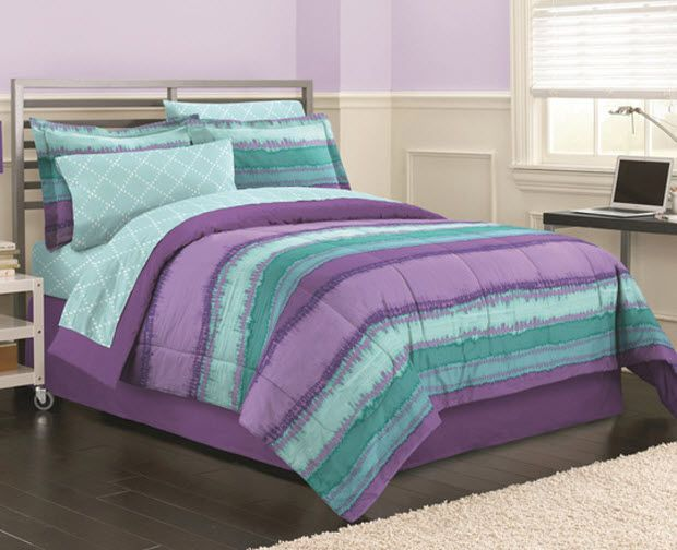 Teal and purple bedding | ChoozOne | Purple bedding sets, Purple