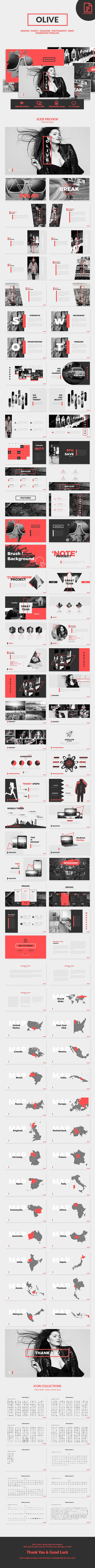 Olive - Fashion PowerPoint Template | Creative powerpoint ...