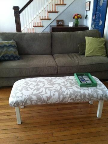 DIY Ottoman : DIY upholstered Benches / Ottoman DIY Furniture   DIY ...