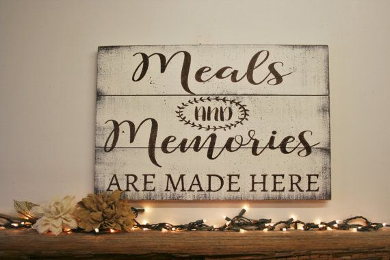 Photo of Wood Kitchen Sign – Meals And Memories Are Made Here – Pallet Sign – Dining Room Decor – Shabby Chic Wall Decor – Wedding Gift