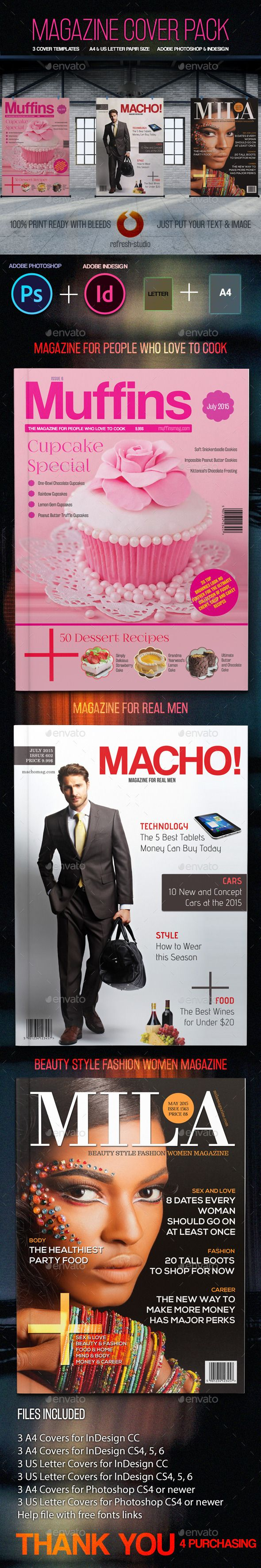 Photoshop Magazine Cover Template Image collections - Template ...