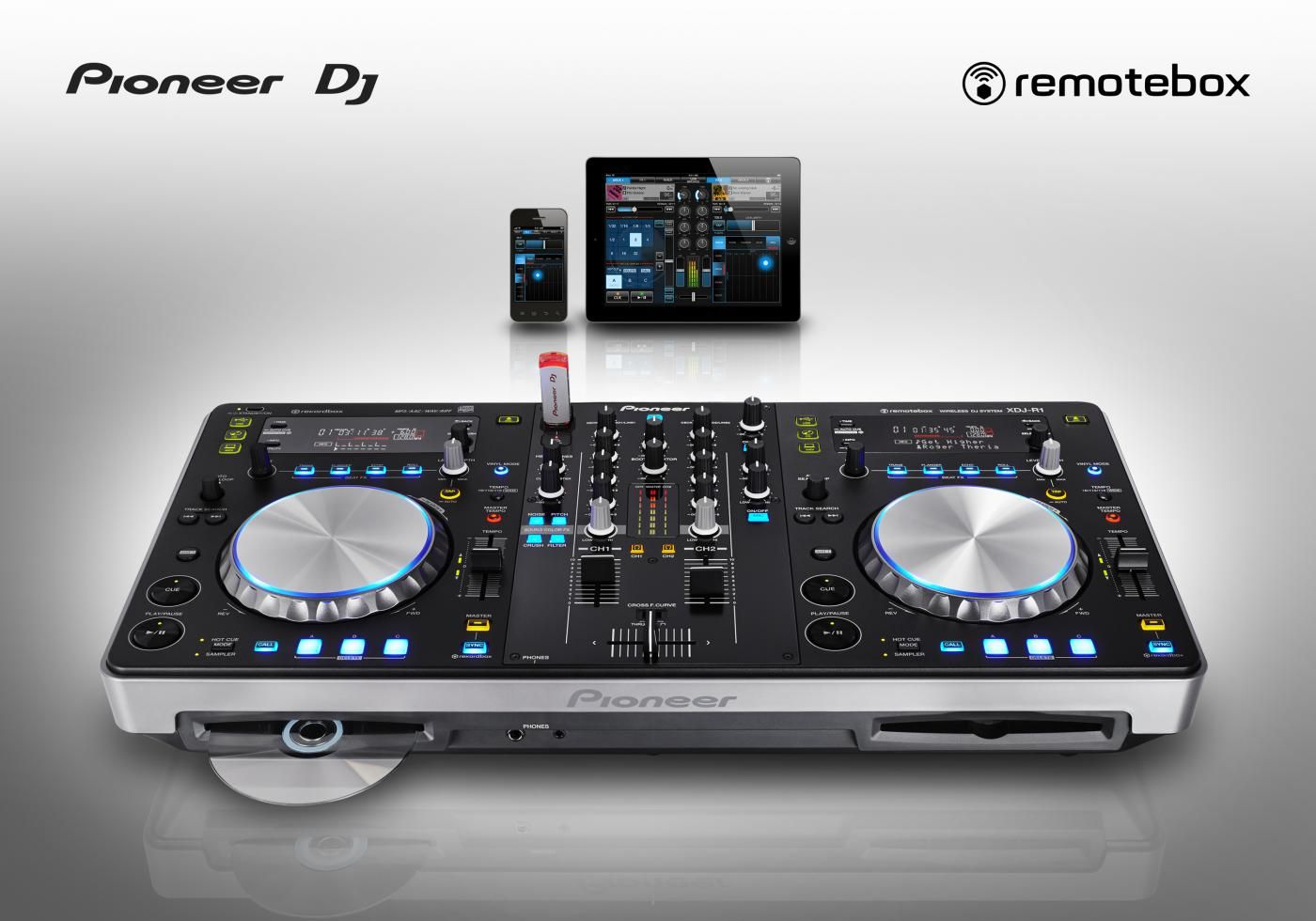 Pioneer XDJ-R1 - maas controller & CD, MP3, USB, iPhone, iPad, iPod