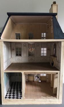French Dollhouse Miniature Chateau Dollhouse French Dollhouse French Country Dollhouse