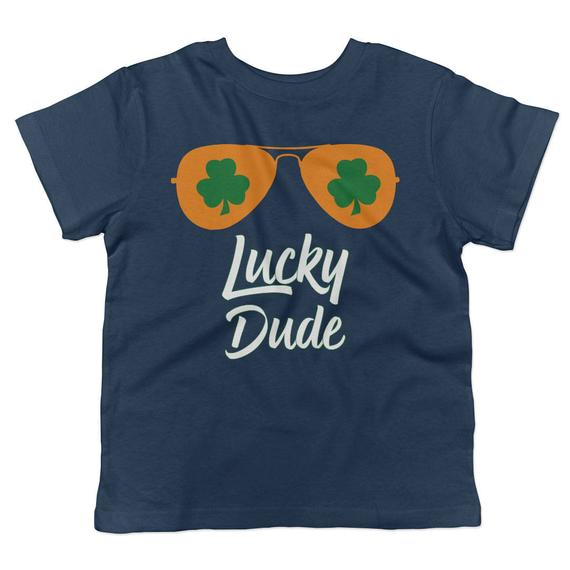 e445cce81 Lucky Dude St. Patrick s Day Aviators Toddler Short Sleeve Crew Neck T-Shirt