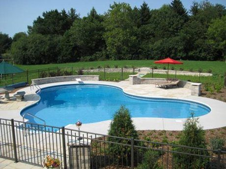 extra concrete area for chaises pool shapes pool on beautiful inground pool ideas why people choose bedrock inground pool id=80581