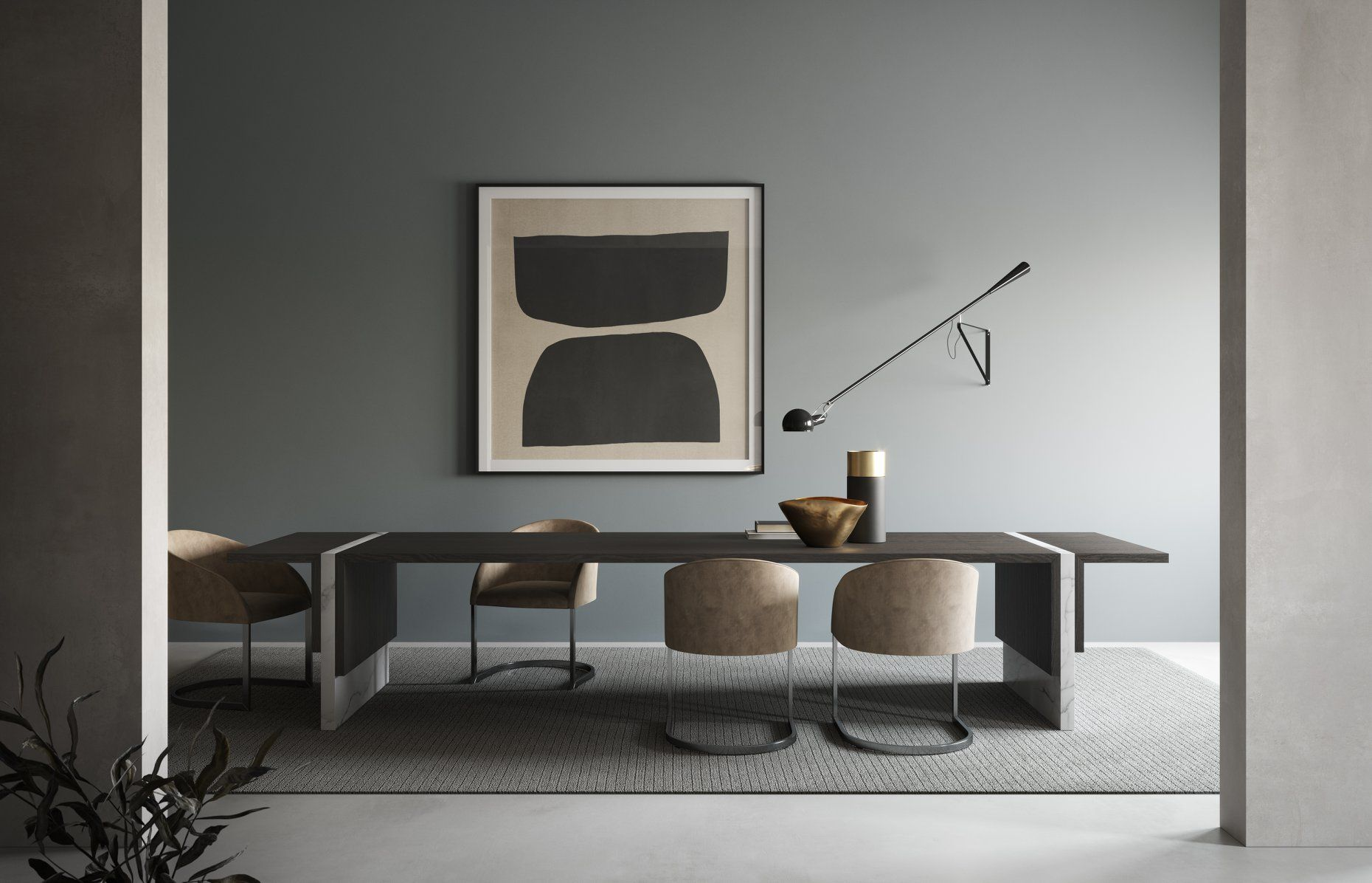 Emmemobili Cosmo Table Features The Combination O Contemporary Designers Furniture Da Vinci Lifestyle In 2020 Contemporary Furniture Design Furniture Design Table