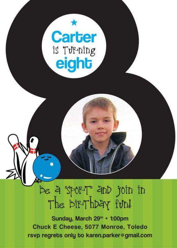 8th birthday invitation by paisley