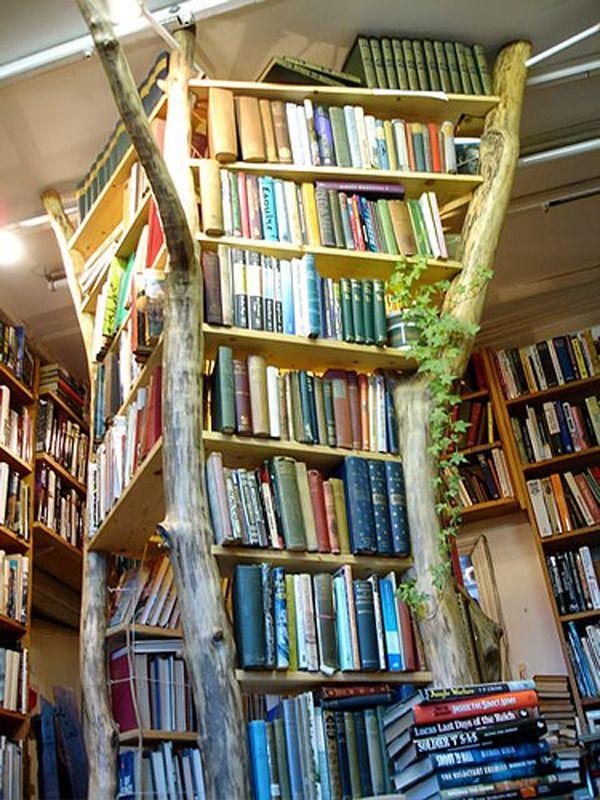 Bucherbaum Der Baum Des Lebens Kreative Bucherregale Buch Wand Und Gemutliche Leseecken