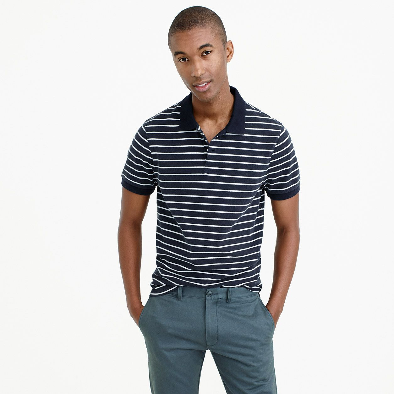 4873424ed J.Crew Mens Classic Piqué Polo Shirt In Stripe (Size XL) | Products ...
