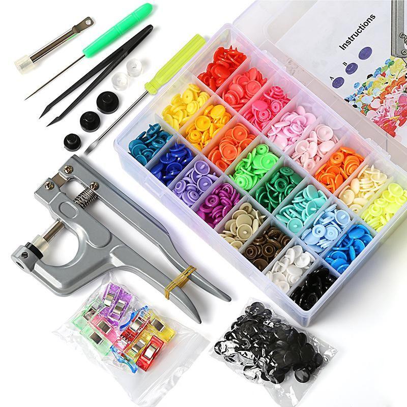 1 Pliers Set 375 DIY Craft KAM Snaps T5 Snap Starter Plastic Poppers Fasteners