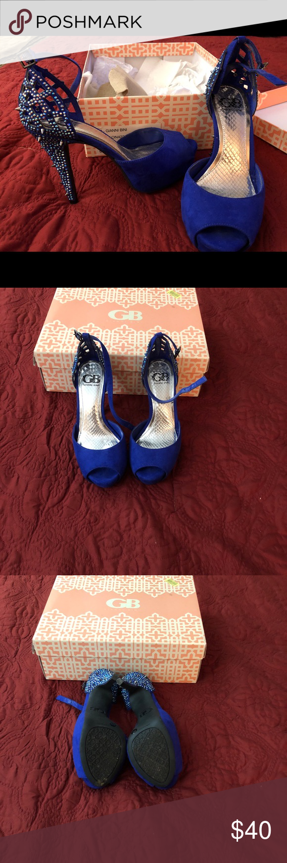 3 20 Gb Gianni Bini Sandals Women Womens Sandals Blue Sandals Gianni Bini Shoes