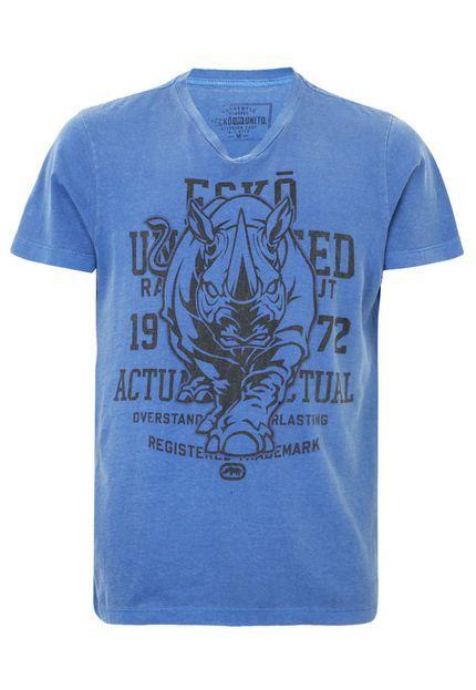 Camiseta Ecko Actual Azul - Compre Agora  b6fdb7512df