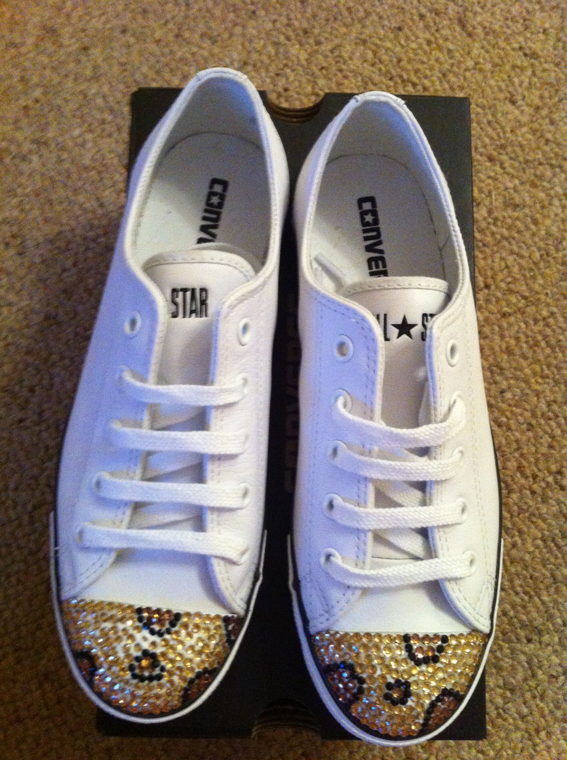 New Crystallised Converse. Email SRCrystalBoutique gmail.com for further  info xox 75c2bbb2dcc2